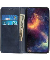 Samsung Galaxy A40 Splitleren Portemonnee Hoesje Blauw