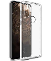 IMAK UX-5 Series Motorola One Vision Hoesje Flexibel TPU Transparant