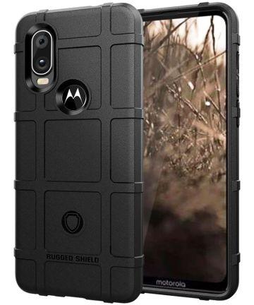 Motorola One Vision Rugged Armor Hoesje Zwart Hoesjes