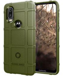 Motorola One Vision Rugged Armor Hoesje Groen