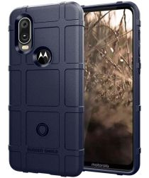 Motorola One Vision Rugged Armor Hoesje Blauw