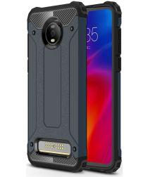 Motorola Moto Z4 Play Hybride Hoesje Blauw