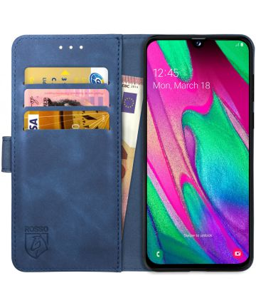 Rosso Element Samsung Galaxy A40 Hoesje Book Cover Blauw