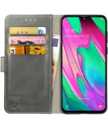 Rosso Element Samsung Galaxy A40 Hoesje Book Cover Grijs