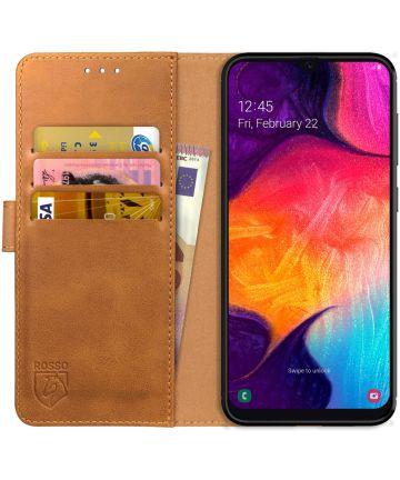 Rosso Element Samsung Galaxy A50 Hoesje Book Cover Lichtbruin