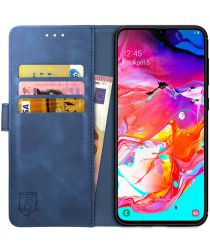 Rosso Element Samsung Galaxy A70 Hoesje Book Cover Blauw