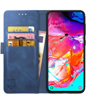 Rosso Element Samsung Galaxy A70 Hoesje Book Cover Blauw Hoesjes