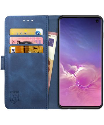 Rosso Element Samsung Galaxy S10 Hoesje Book Cover Blauw