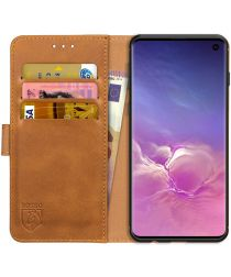 Rosso Element Samsung Galaxy S10 Hoesje Book Cover Lichtbruin