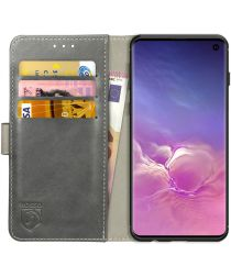 Rosso Element Samsung Galaxy S10 Hoesje Book Cover Grijs