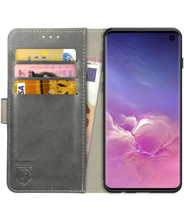 Rosso Element Samsung Galaxy S10 Hoesje Book Cover Grijs Hoesjes