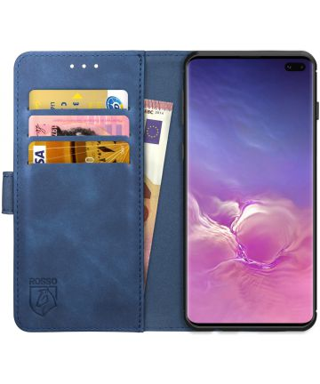 Rosso Element Samsung Galaxy S10 Plus Hoesje Book Cover Blauw Hoesjes