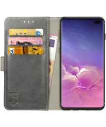 Rosso Element Samsung Galaxy S10 Plus Hoesje Book Cover Grijs