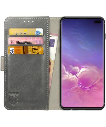 Rosso Element Samsung Galaxy S10 Plus Hoesje Book Cover Grijs Hoesjes