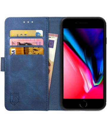 Rosso Element Apple iPhone 7 / 8 Hoesje Book Cover Blauw