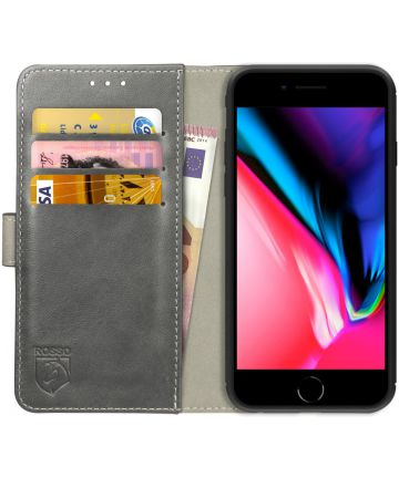Rosso Element Apple iPhone 7 / 8 Hoesje Book Cover Grijs