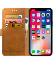 Rosso Element Apple iPhone XS / X Hoesje Book Cover Lichtbruin