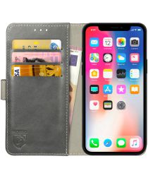 Rosso Element Apple iPhone XS / X Hoesje Book Cover Grijs