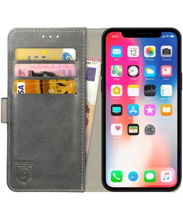Rosso Element Apple iPhone XS / X Hoesje Book Cover Grijs Hoesjes