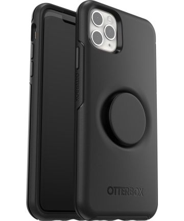 Otter + Pop Symmetry Series Apple iPhone 11 Pro Max Hoesje Zwart Hoesjes