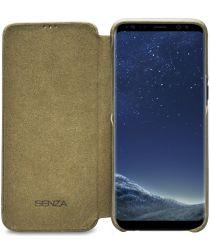 Senza Desire Skinny Leren Portemonnee Hoesje Samsung Galaxy S8 Groen