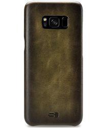 Senza Desire Leren Back Cover Samsung Galaxy S8 Groen