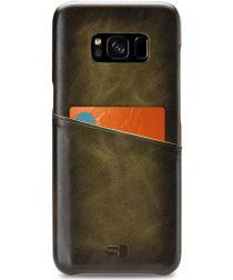 Senza Desire Leren Back Cover met Kaartsleuf Samsung Galaxy S8 Groen