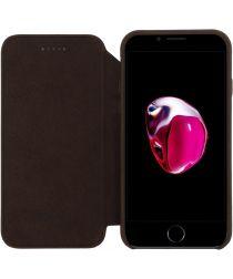 Senza Raw Apple iPhone SE (2020) Hoesje Dun Leren Wallet Case Bruin