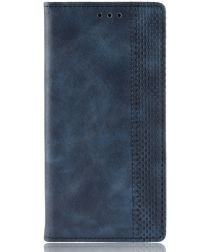Nokia 2.2 Stijlvol Vintage Portemonnee Hoesje Blauw
