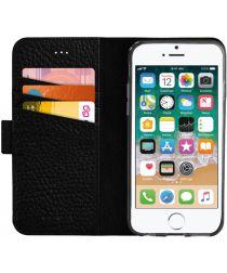 Senza Exquisite Leren Portemonnee Hoesje iPhone 5(S) / SE Zwart