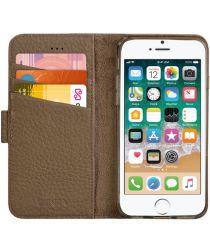 Senza Exquisite Leren Portemonnee Hoesje iPhone 5(S) / SE Bruin
