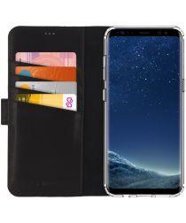 Senza Pure Leren Portemonnee Hoesje Galaxy S8 Plus Zwart