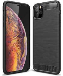 Apple iPhone 11 Pro Hoesje Geborsteld TPU Zwart