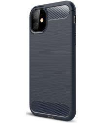 Apple iPhone 11 Hoesje Geborsteld TPU Blauw