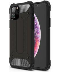 Apple IPhone 11 Pro Hoesje Shock Proof Hybride Back Cover Zwart