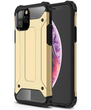 Apple IPhone 11 Pro Hoesje Shock Proof Hybride Back Cover Goud Hoesjes