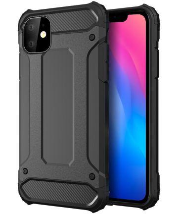 Apple iPhone 11 Hoesje Shock Proof Hybride Back Cover Zwart Hoesjes