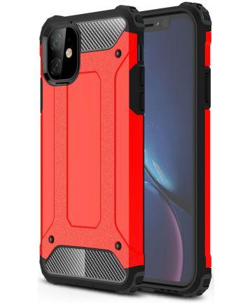 Apple IPhone 11 Hoesje Shock Proof Hybride Back Cover Rood Hoesjes
