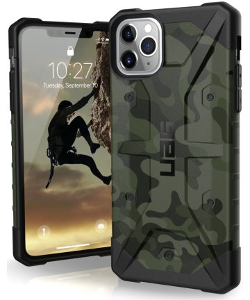 Urban Armor Gear Pathfinder Hoesje Apple iPhone 11 Pro Max Forest Camo Hoesjes