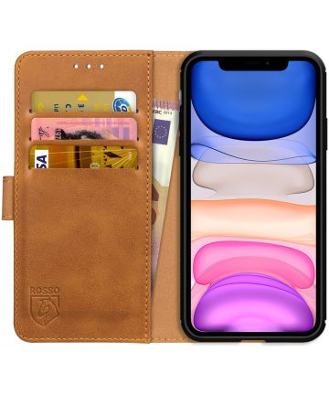 Rosso Element Apple iPhone 11 Pro Hoesje Book Cover Lichtbruin Hoesjes