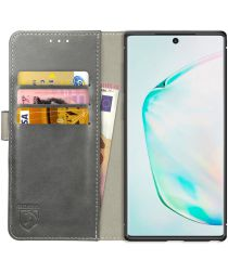 Rosso Element Samsung Galaxy Note 10 Plus Hoesje Book Cover Grijs