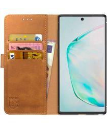 Rosso Element Samsung Galaxy Note 10 Plus Hoesje Book Cover Lichtbruin