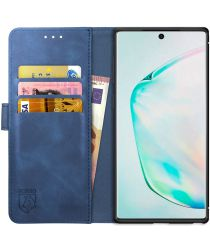 Rosso Element Samsung Galaxy Note 10 Plus Hoesje Book Cover Blauw