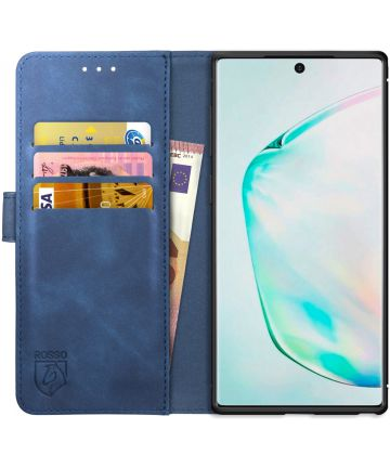 Rosso Element Samsung Galaxy Note 10 Plus Hoesje Book Cover Blauw Hoesjes