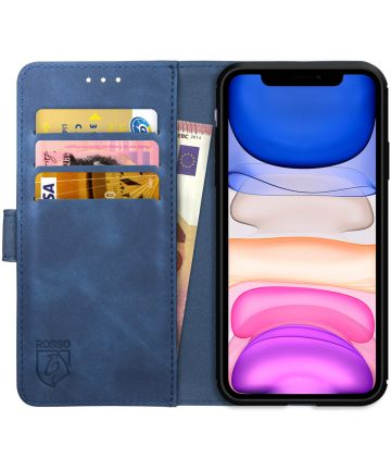 Rosso Element Apple iPhone 11 Hoesje Book Cover Blauw Hoesjes