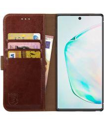 Rosso Element Samsung Galaxy Note 10 Plus Hoesje Book Cover Bruin