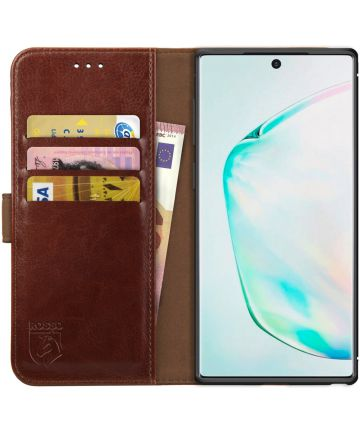 Rosso Element Samsung Galaxy Note 10 Plus Hoesje Book Cover Bruin Hoesjes