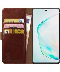 Rosso Element Samsung Galaxy Note 10 Hoesje Book Cover Bruin
