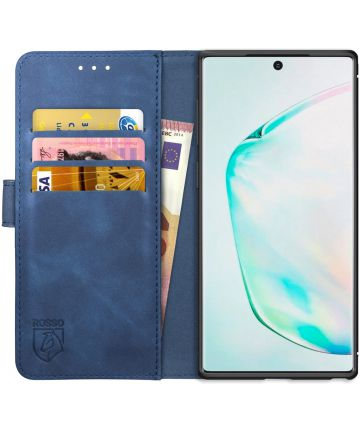 Rosso Element Samsung Galaxy Note 10 Hoesje Book Cover Blauw Hoesjes