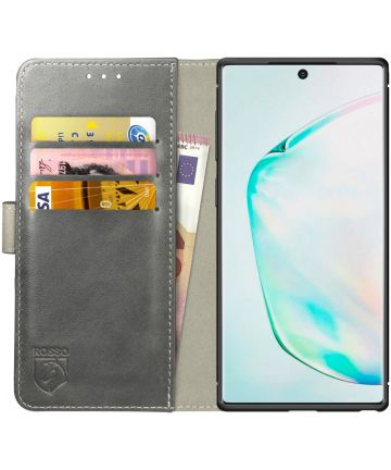 Rosso Element Samsung Galaxy Note 10 Hoesje Book Cover Grijs Hoesjes
